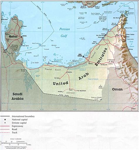 Travel UAE: UAE map