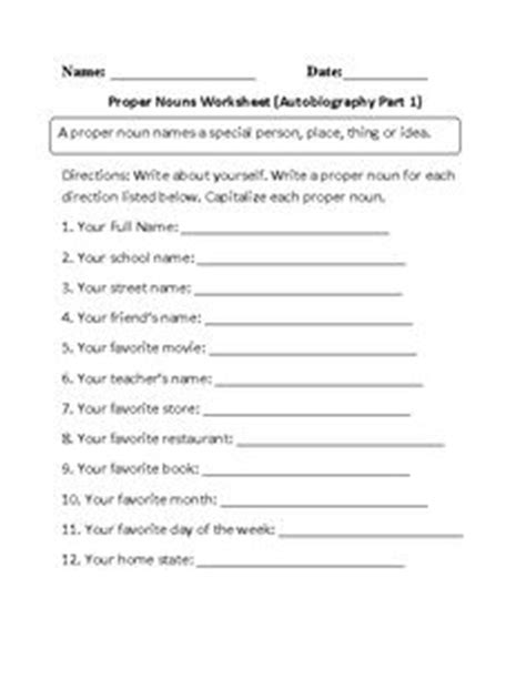 proper nouns worksheet images nouns worksheet