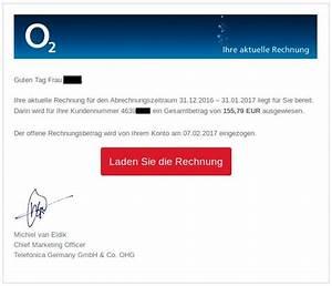 Online Metzgerei Versand Auf Rechnung : gef lschte o2 rechnung verteilt erpresser trojaner ~ Themetempest.com Abrechnung