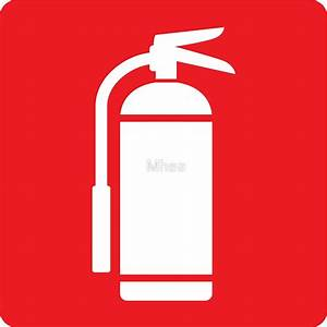 """""""Fire extinguisher symbol, white on red"""" Stickers by Mhea"""