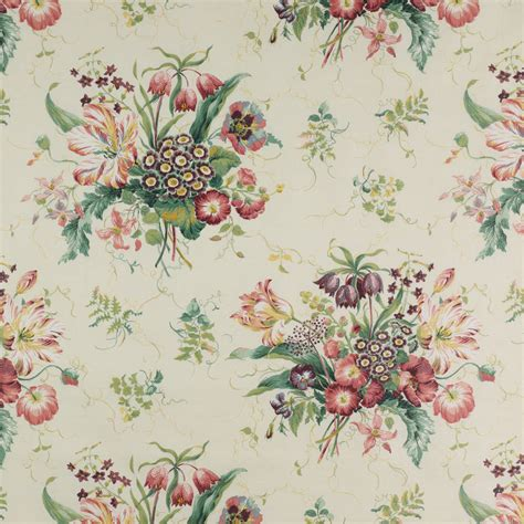 Colefax Fowler Upholstery Fabrics - colefax fowler fabric chintz pink green f2003 01