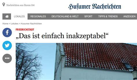 naziparolen am mittelburgwall in friedrichstadt wecken erinnerungen
