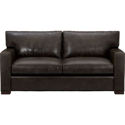Leather Apartment Sofa by Axis Ii Leather Apartment Sofa Espresso Crate And Barrel