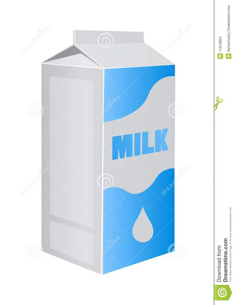 vector milk carton pack stock vector illustration  baby