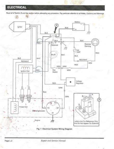 Gas Golf Cart Wiring Diagram With Ezgo Txt New