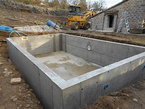 construction de piscine beton With construction d une piscine beton