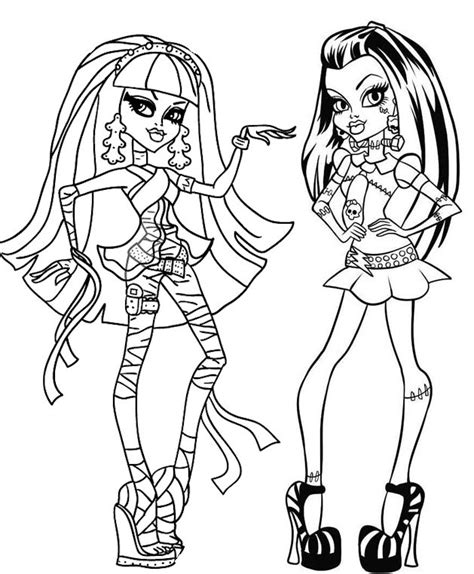 Coloriage Monster High Linh