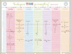 printable weekly schedule easy going organizer
