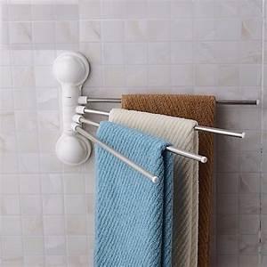 Creative, Sucker, Towel, Rack, Removable, Wall, Hanging, Towel, Rack, Towel, Shelf, 1pcs