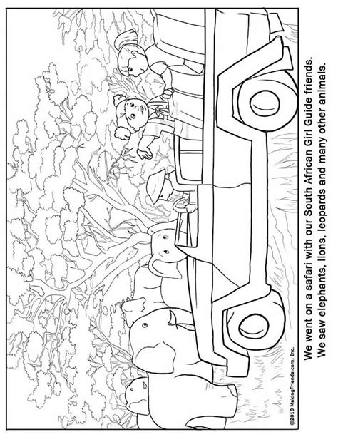 south african girl guide coloring page passport ideas