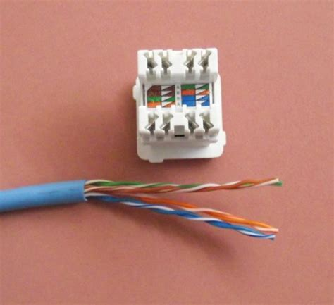 terminating cat5e cable on a wall mount or patch panel