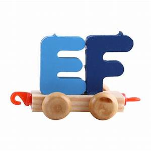 wooden train set alphabet wood letters with wheels kids With wooden letter train cars