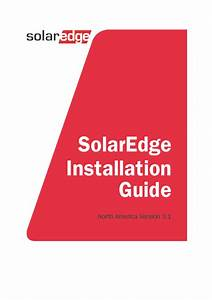 Solaredge Installation Guide  U2013 Man