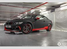 Red and Black BMW M3 Poses in Underground Garage in London