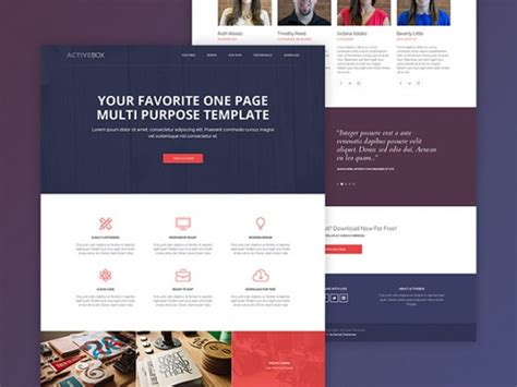 activebox free html template freebiesbug
