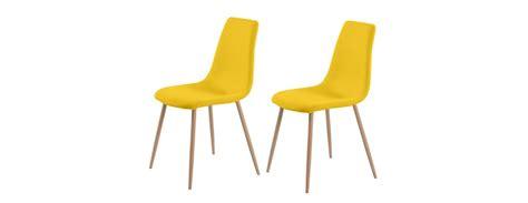 chaise pas cher par 6 chaise aleksi jaune lot de 2 testez nos chaises aleksi