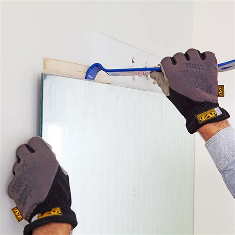 How To Remove A Bathroom Mirror Glued To The Wall by Remove A Bathroom Mirror