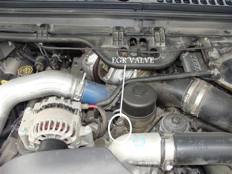 Where Is Egr Valve Located On 2006 Ford W/powerstroke Diesel