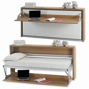 un mini bureau et un mini lit armoire lit bureau 1 With armoire lit escamotable avec canape
