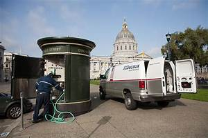 public toilets public works With self cleaning bathroom san francisco