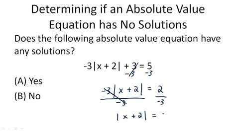 Absolute Value Equations  Ck12 Foundation