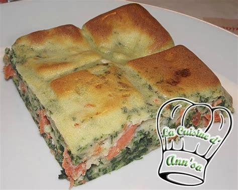 quiche sans p 226 te 233 pinards et saumon annso cuisine cie