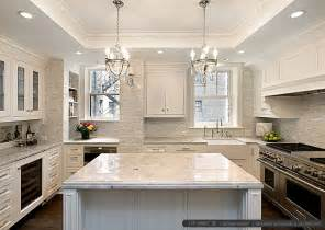 kitchen backsplashes for white cabinets white kitchen with calacatta gold backsplash tile backsplash com