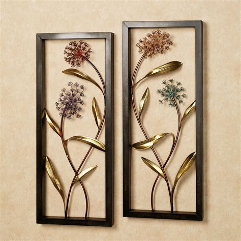 metal wall decor summer scents metal wall panel set