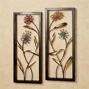Summer scents metal wall art panel set