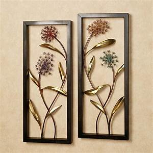 summer scents metal wall art panel set With wall panel art