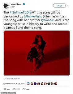 Billie Eilish to record James Bond 'No Time to Die' theme ...