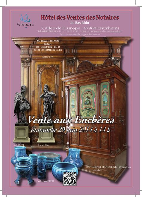 chambre des notaires du bas rhin vente du 29 6 2014 by strasbourg encheres issuu