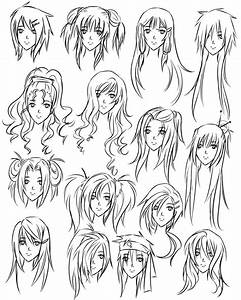 drawing girl hair styles | How To Draw Hairstyles For ...