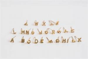 initial earringscz initial earringinitial jewelryname With custom letter earrings