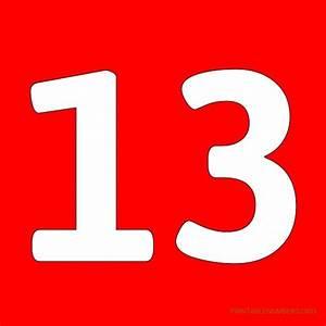 Printable Numbers 1-50 Red | Printable Numbers Org