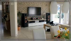 Steinwände Für Innen : mein wohnkino mit steinwand klipsch sony60ex705 ~ Michelbontemps.com Haus und Dekorationen