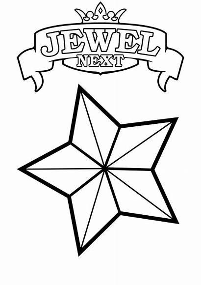 Coloring Star Stars Printable Pages Shooting Jewel