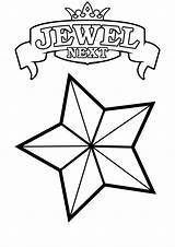 Coloring Pages Stars Star Printable sketch template