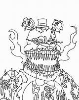 Fnaf Coloring Freddy Pages Nightmare Characters Nights Five Drawing Foxy Drawings Fazbear Naf Printable Colour Cute Print Sketch Freddys Getcolorings sketch template