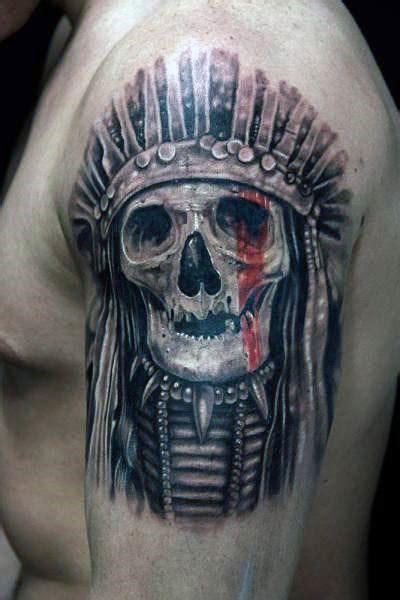 80 Indian Skull Tattoo Designs For Men  Cool Ink Ideas