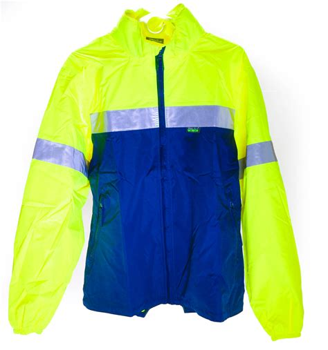 reflective waterproof cycling jacket wowow reflective rw 840 medium bike cycling outdoor rain