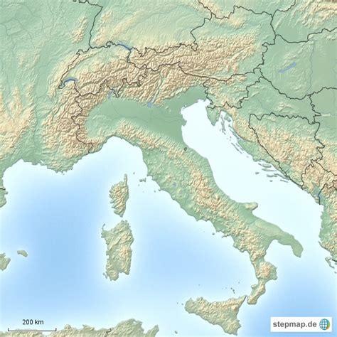 stepmap alpen landkarte fuer oesterreich