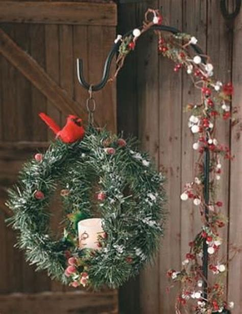 40 comfy rustic outdoor christmas d 233 cor ideas interior