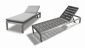 Chaise Longue Aluminium : chaise longue en aluminium et r sine aspect bois irwan ~ Teatrodelosmanantiales.com Idées de Décoration