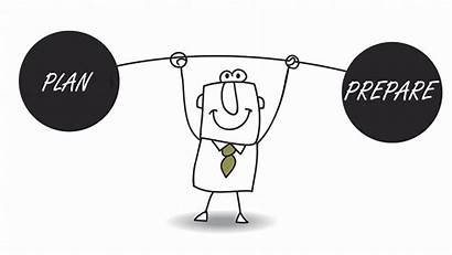Businessman Plan Business Success Cartoon Create Eight