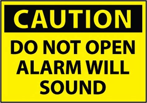 caution sign   open alarm  sound