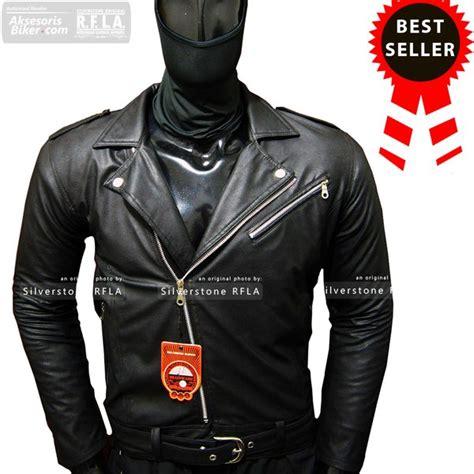 jual jaket kulit changcuter rock  roll style black