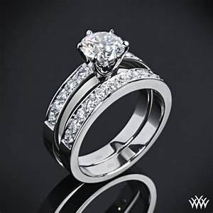 tiffany style quotbead setquot diamond wedding set 1468 With tiffany wedding ring set