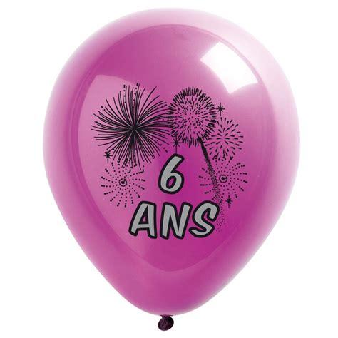 boutique cuisine 10 ballons de baudruche multicolore 6 ans
