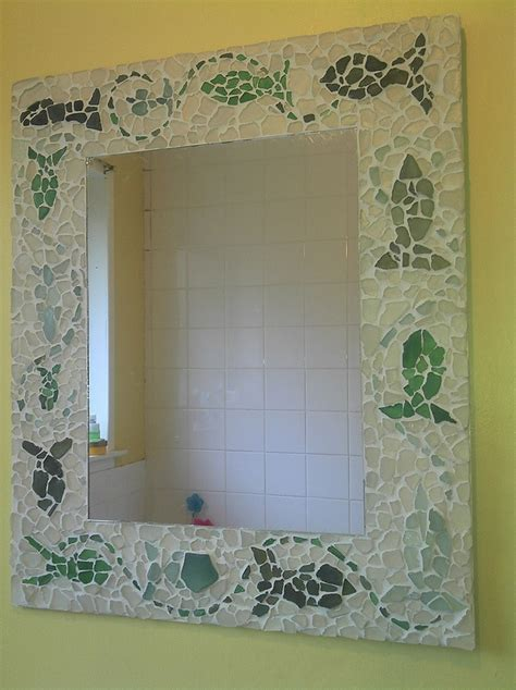 bathroom mosaic mirror 2641 best images about sea glass on pinterest